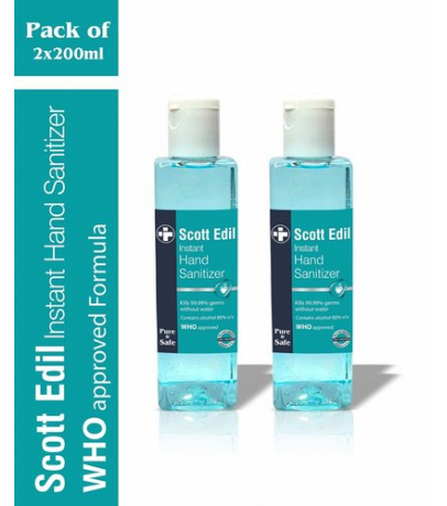 Scott Edil Instant Hand Sanitizer - 200 ML - Pack of 2