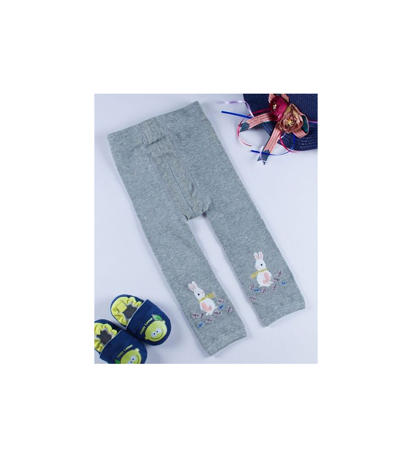 Bunny Design Grey Stockings For Girls