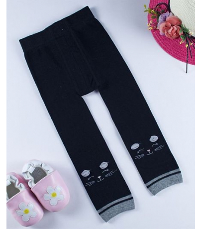 Catty Design Black Stockings For Girls