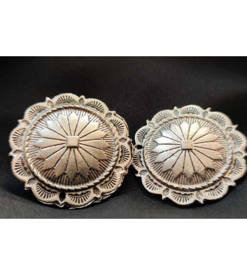 Floral Design Studded Oxidized Earrings