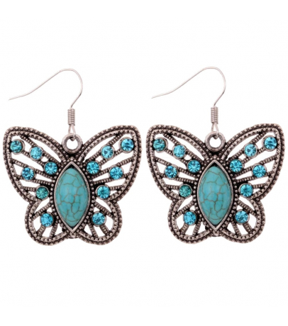 Butterfly Design Blue Stone Earrings