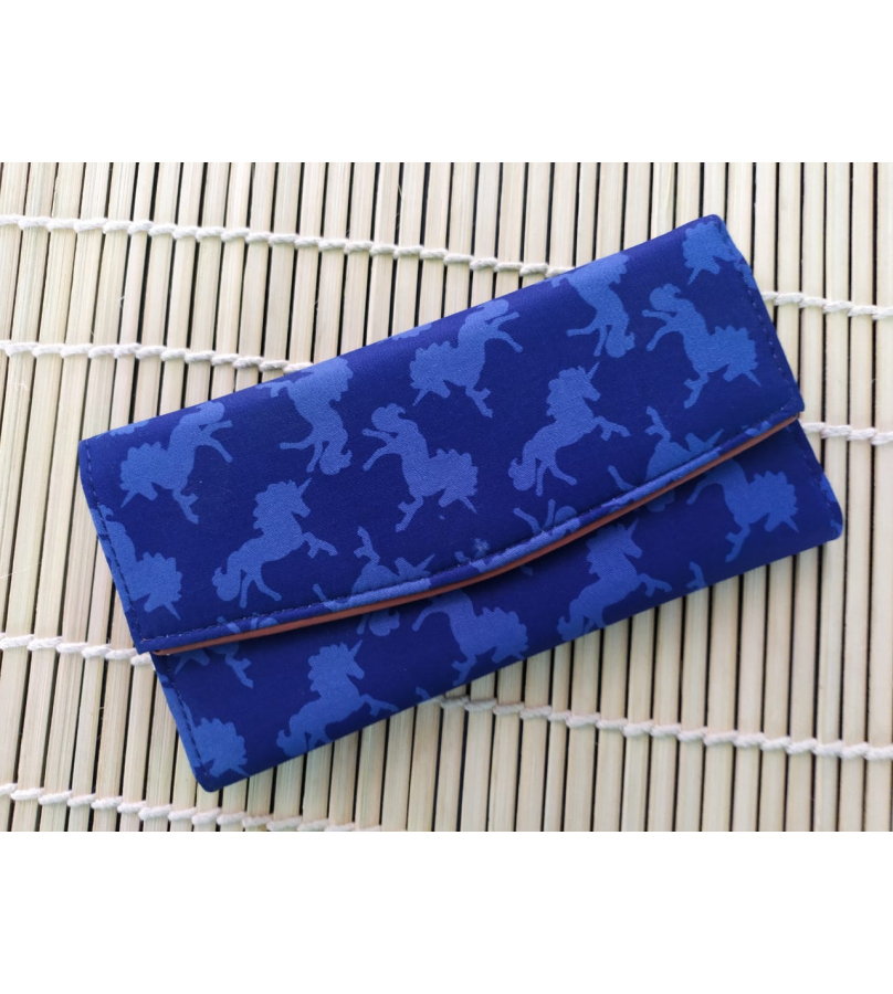 Handmade Fabric Wallet With Horse Print