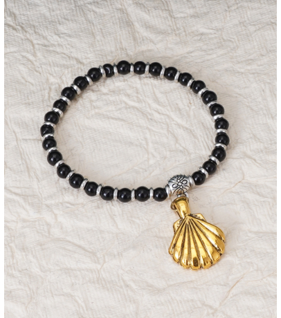 Golden Shell Charm Smart Bracelet