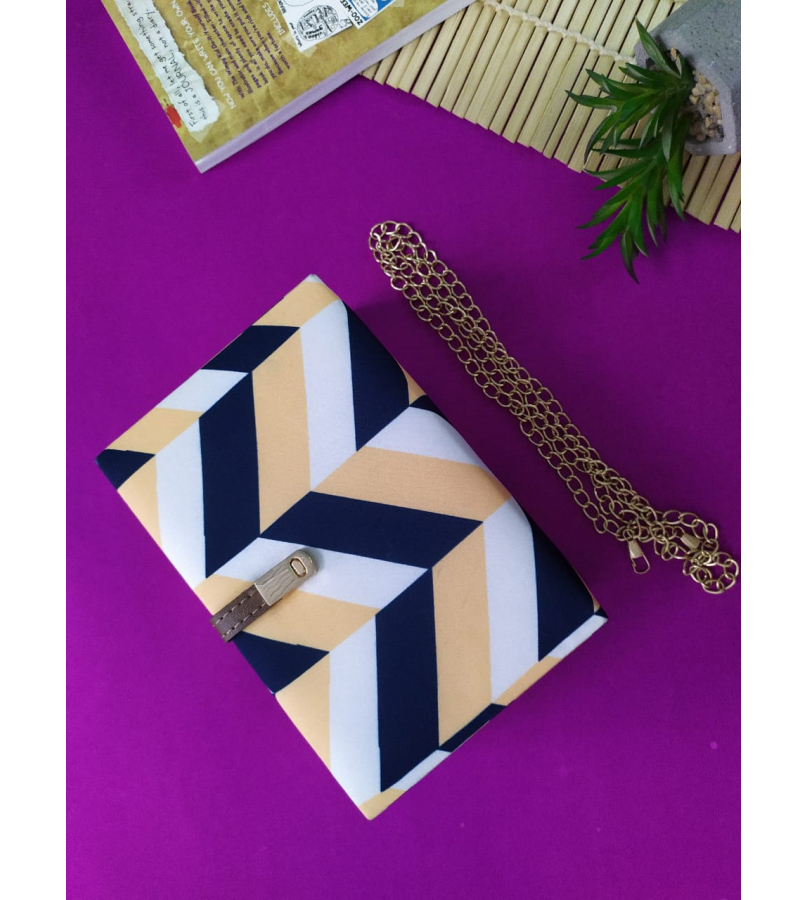 Handmade Fabric Clutch With Abstract Print