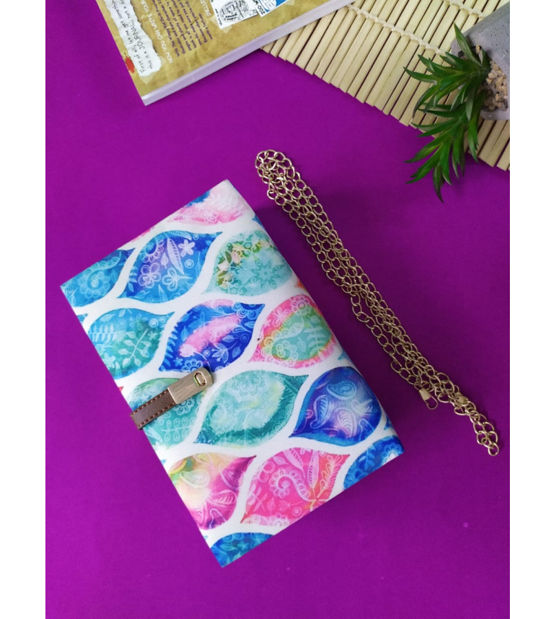 Handmade Fabric Clutch With MultiColor Print