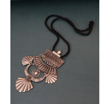 Elaborate Tribal look Black Thread Pendant