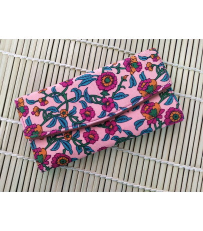 Handmade Fabric Wallet With Floral Print