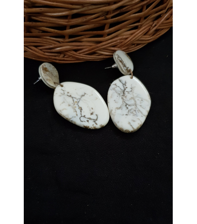 Emma Handcrafted Marble Effect Resin Earrings