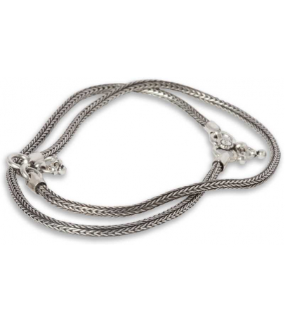 Traditional Oxidized Simple Design Brass Anklets