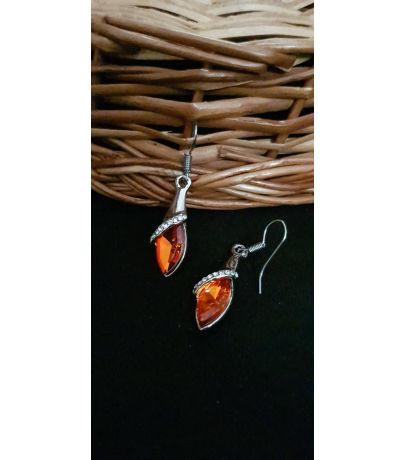 Xema Handcrafted Red Stone Earrings